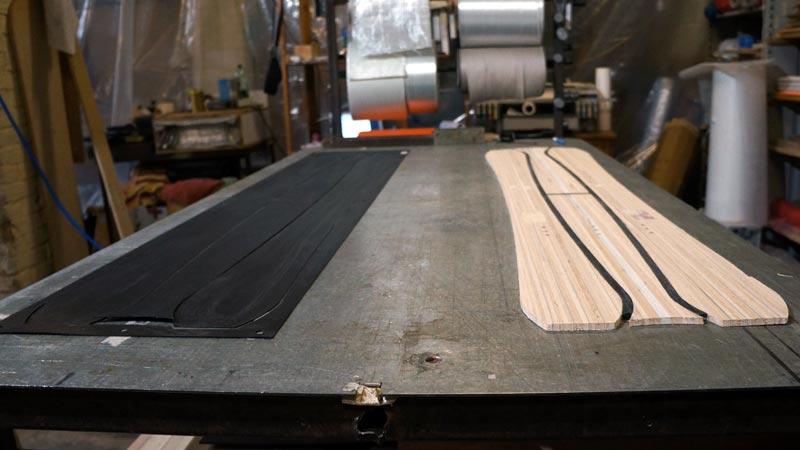 Clone Ind - Fabrication splitboard - découpe noyau et semelle