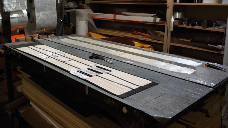 Clone Ind - Fabrication splitboard - renforts fibre de verre et carbone