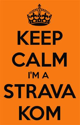 Strava KOM keep calm