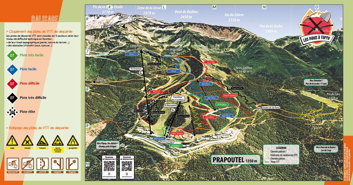 7 Laux Bikepark - Plan des pistes