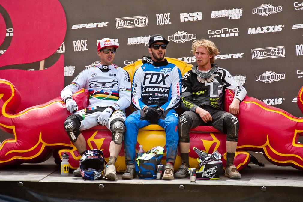 podium provisoire crankworx 2 alpes 2015