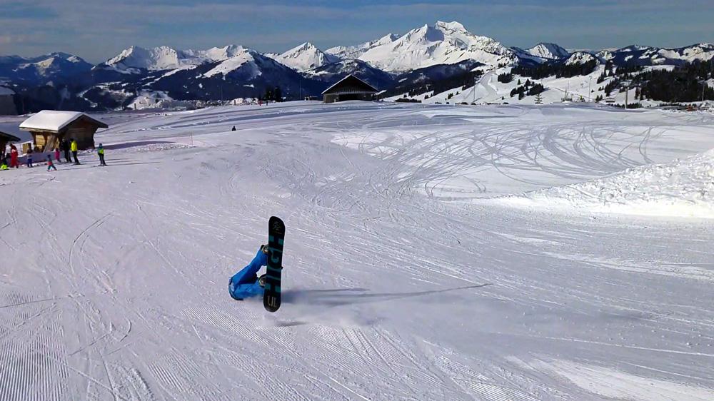 snowboard chute avoriaz snowpark
