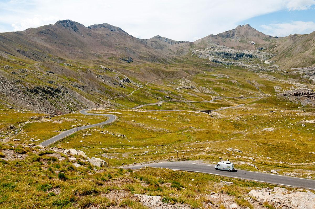 La route de la Bonette est certainement un des plus beaux tronçons du parcours.