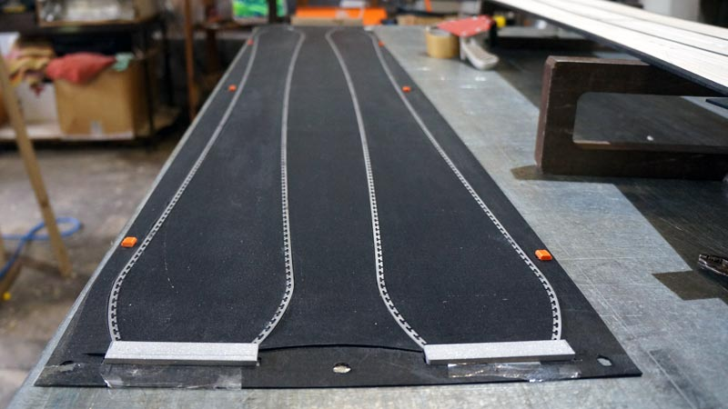Clone Ind - Fabrication splitboard - Pose des carres
