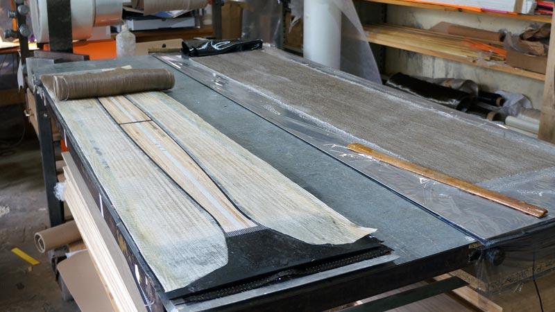 Clone Ind - Fabrication splitboard - fibre de verre et lin