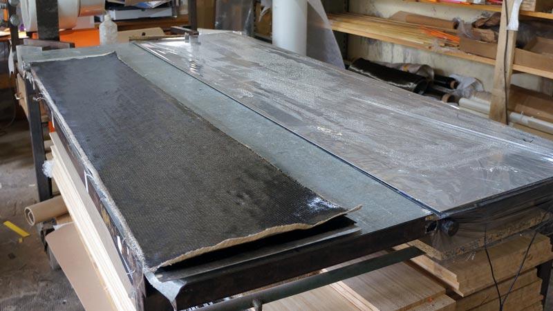 Clone Ind - Fabrication splitboard - fibre de carbone