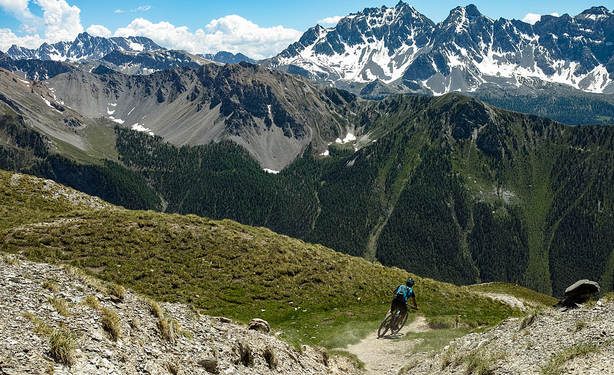 VTT Queyras - Col des Estronques vers Ceillac