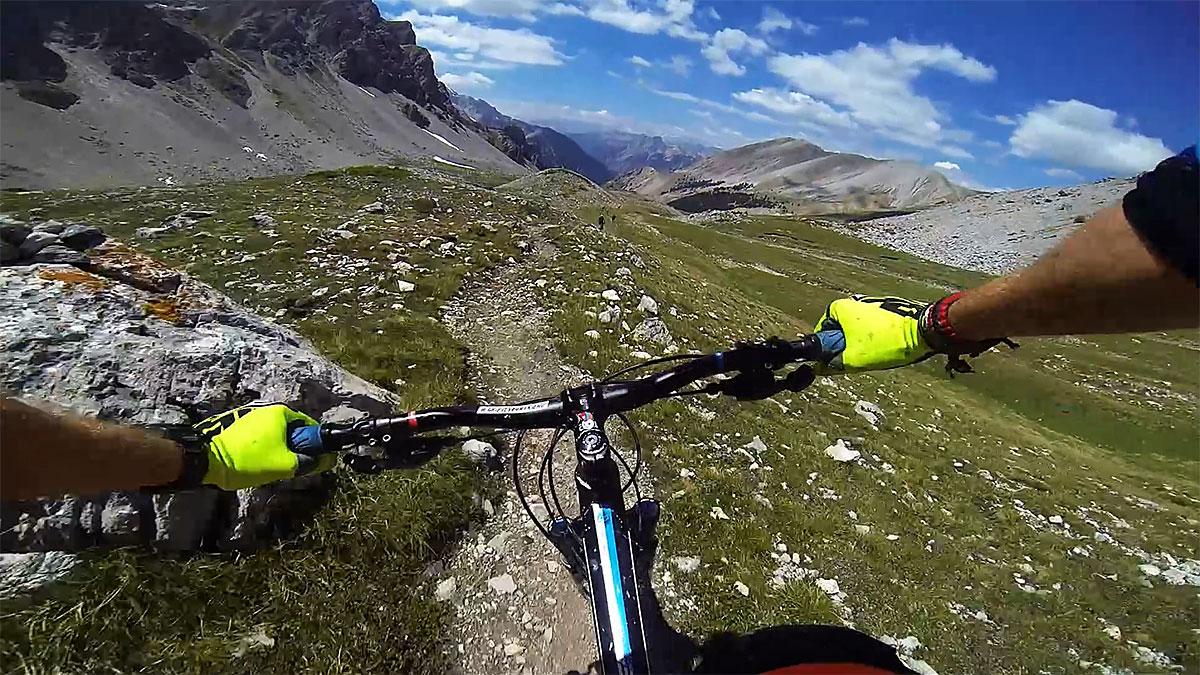 VTT Queyras - Descente depuis le Col Albert
