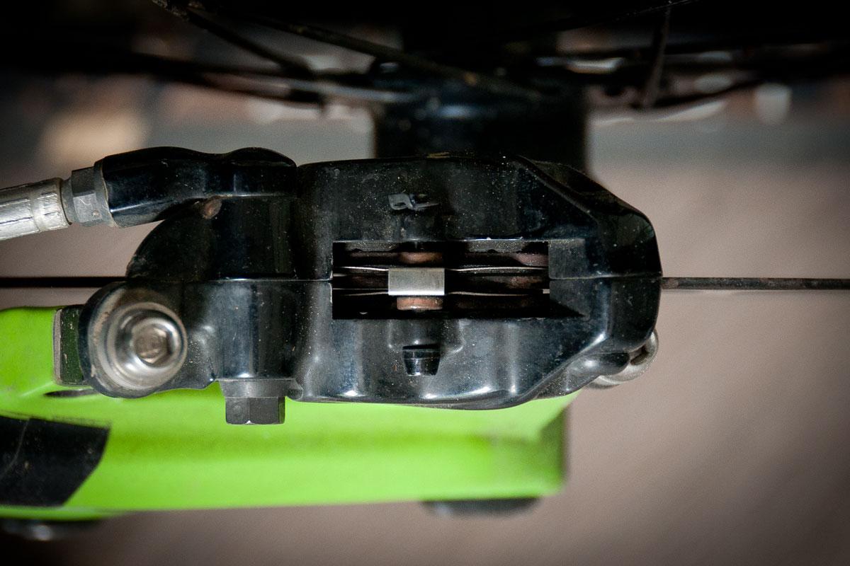 VTT - Devoiler un disque de frein - étrier