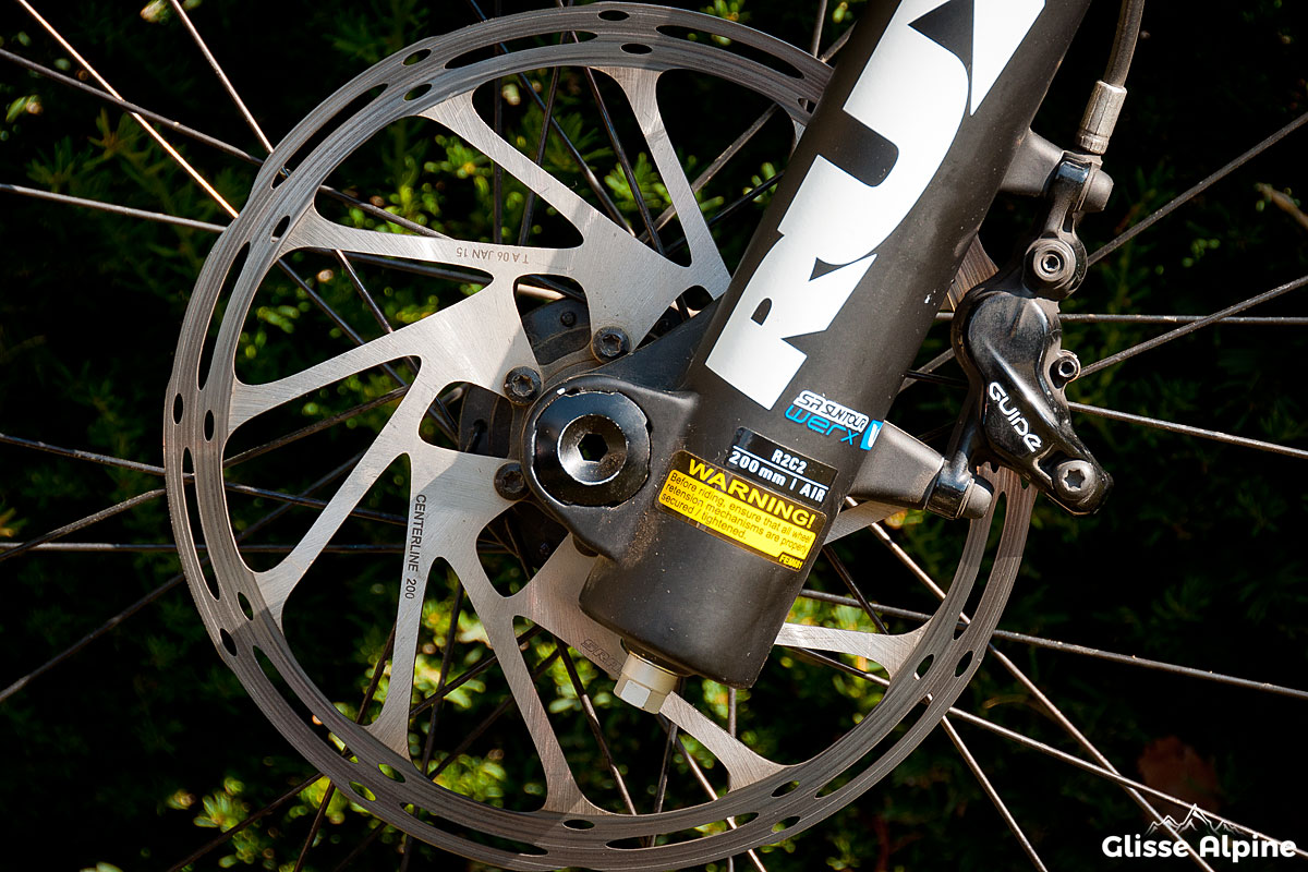 Test SRAM Guide RS - Disque Centerline