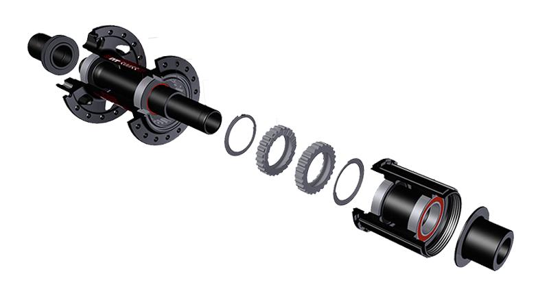 DT Swiss roue libre star ratchet - vue éclatée