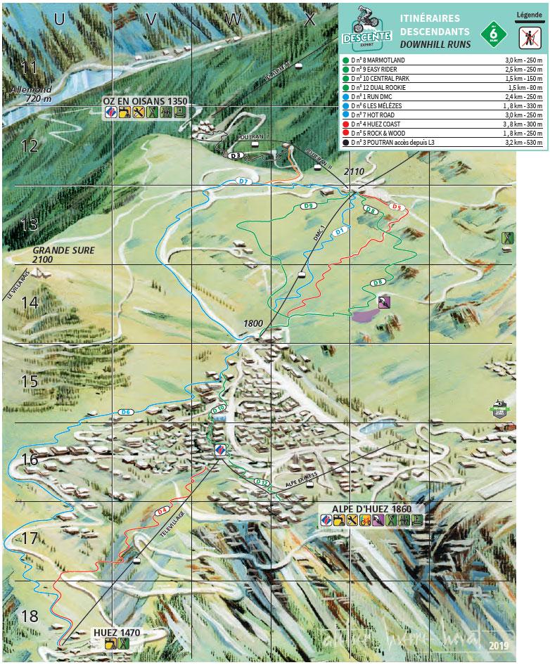 Alpe d'Huez - Plan Bikepark - Pistes DH