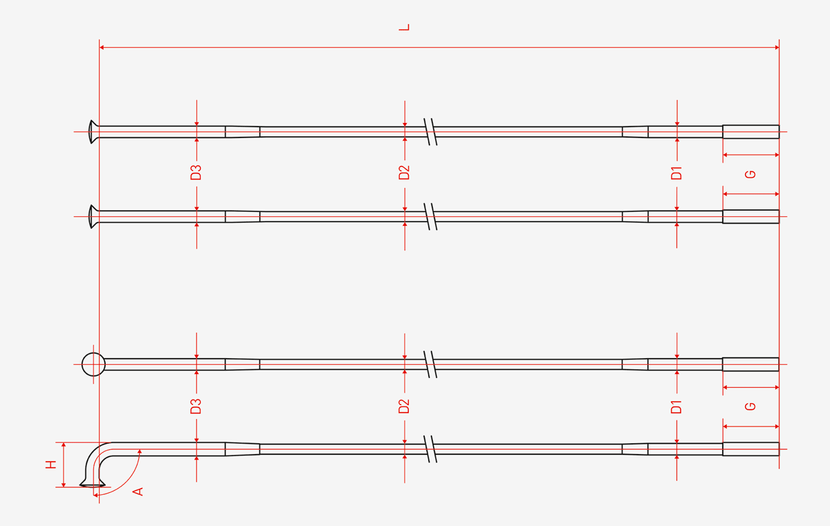 Schema dimensions rayons